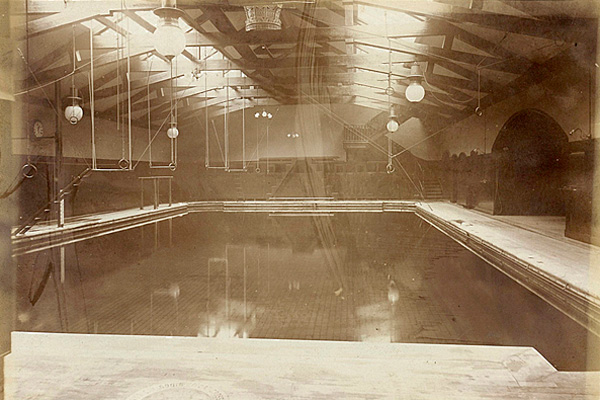 trapeze and traveling rings at Arlington Baths Club