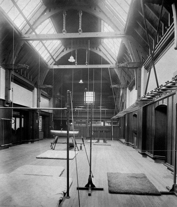 the gymnasium at the Public Baths & Gymnasium at Primrose street, Alloa, Scotland