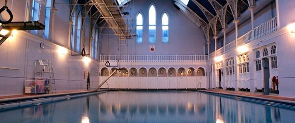 Pool at the Western Baths in Glasgow, Scotland